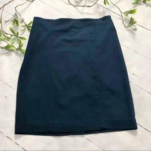 Vanheusen Navy Blue Stretch Pencil Skirt (10)
